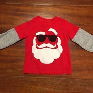 Baby Christmas Cool Santa Long Sleeve T-Shirt